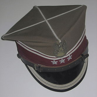 Rogatywka - Rogatywka with the military eagle, the emblem of Polish armed forces, and three stars, the rank insignia of a pułkownik (colonel)