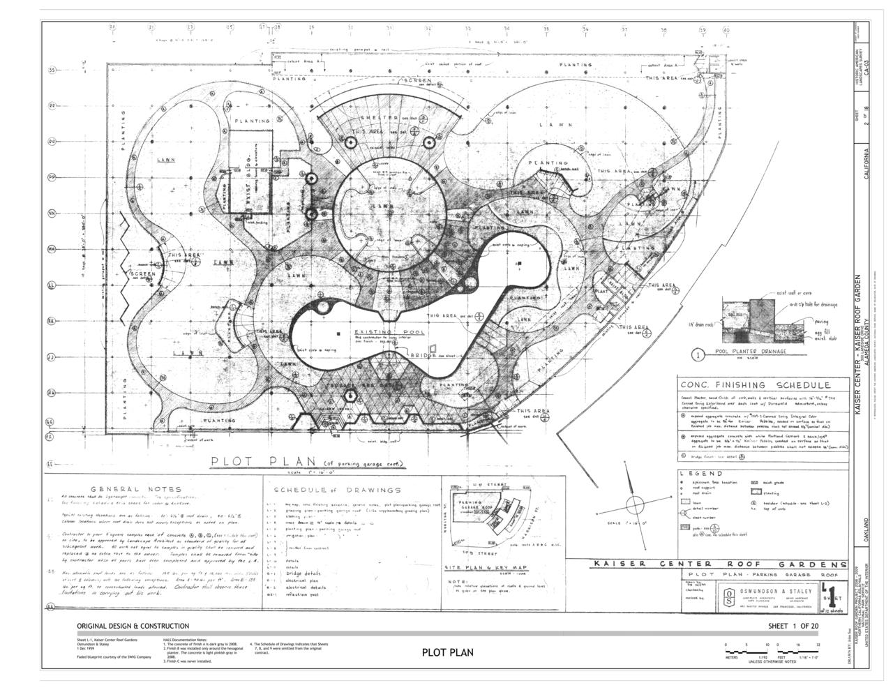 File plot plan kaiser center 300 lakeside drive for Find plot plan online
