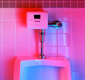 Plumbing fixture - Sensor operated plumbing fixtures have fewer moving parts, and therefore outlast traditional manual flush fixtures. Additionally, they reduce water consumption by way of intelligent flushing schedules (fuzzy logic) that determines the quantity of each flush based on how many people are standing in line to use the fixture.