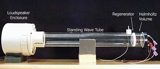 A standing wave demonstration refrigerator