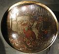 Polidoro da caravaggio e maturino da firenze, rotella di gala con la presa di una città, forse conquista di pesaro, 1525-1550 ca 02.JPG