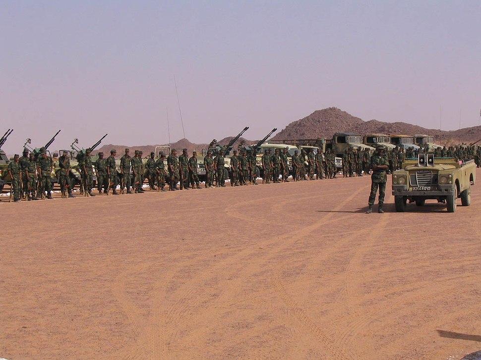 Polisario troops