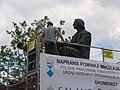 Pomnik Mikołaja Kopernika w czasie naprawy.JPG