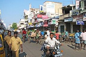 Une rue de Pondichéry