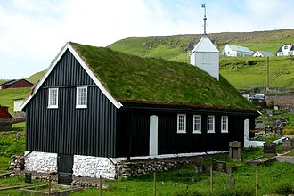 Religion in the Faroe Islands - Porkeri Church (built 1847)