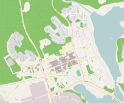 Map of Porsön, from OpenStreetMap