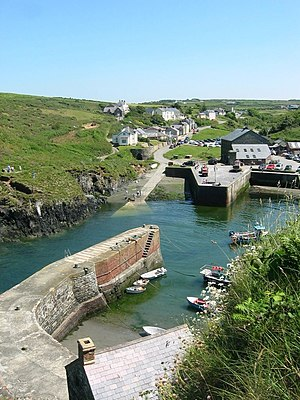 British narrow-gauge slate railways - Image: Porthgain Harbour