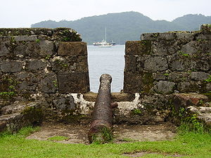 Fortifications on the Caribbean Side of Panama: Portobelo-San Lorenzo - The ruins of fort San Lorenzo at Portobelo.