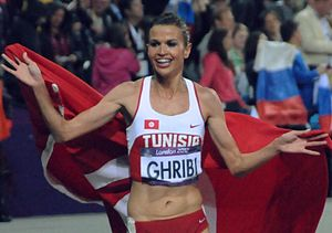 Tunisia at the 2016 Summer Olympics - Habiba Ghribi after winning the silver medal in the 2012 Summer Olympics.