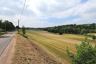 The valley of the Possendorfer Bach west of Theisewitz