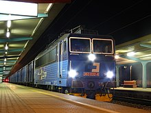 Postal trains. ČD Cargo 363.032 + Czech Post. Night express (Czech Republic).jpg