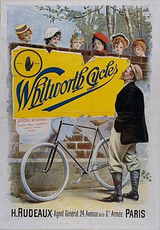 Jean de Paleologu - Image: Poster 'Whitworth Cycles, Paris' by PAL Médiathèque de Chaumont