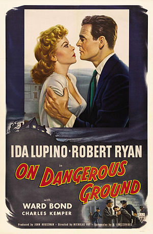 On Dangerous Ground - Theatrical release poster