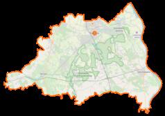 Mapa lokalizacyjna powiatu piaseczyńskiego