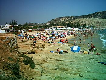 Praia da Luz, Lagos, Algarve (Portugal). Praia...