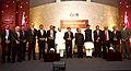 Pranab Mukherjee with awardees of the Annual Business Standard Awards, at a function, in Mumbai. The Governor of Maharashtra, Shri K. Sankaranarayanan and the Chief Minister of Maharashtra.jpg