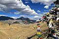 Prayer flags at the Namka La (9999246375).jpg