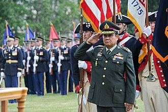 Major non-NATO ally - Prayut Chan-o-cha, commander in chief of the Royal Thai Army, in Arlington, Virginia, June 6, 2013