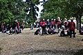 Preparing for Fiestas Patrias Parade, South Park, Seattle, 2017 - 016 - Sealth High School band.jpg