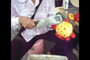 File:Preparing pineapple - 01.ogv