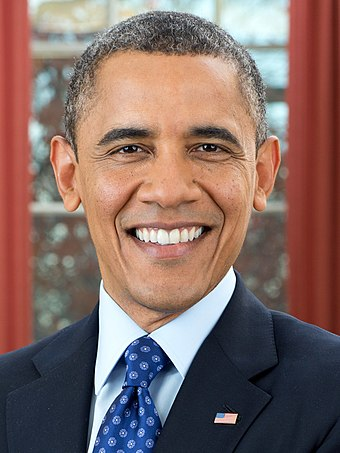 Barack Obama, the incumbent President of the United States in 2016, whose second term expired at noon on January 20, 2017 President Barack Obama (cropped).jpg