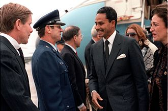 Hussain Muhammad Ershad - Ershad arrives for a state visit to USA (1983)