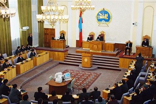 President Putin meeting deputies of the Great State Hural-1