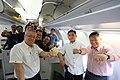 President Rodrigo Duterte poses with his delegation to Brunei prior to their departure on October 16.jpg