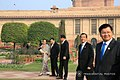 President Rodrigo Roa Duterte chats with Myanmar State Counsellor Aung San Suu Kyi and Thailand Prime Minister Prayuth Chan-ocha at the Mughal garden of the Rashtrapati Bhavan.jpg