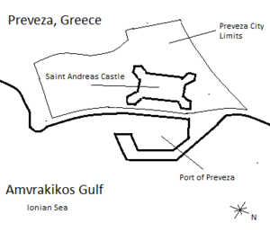 Battle of Preveza (1911) - Image: Preveza Map 2