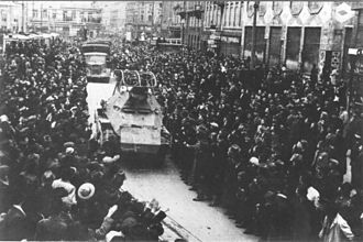 Zagreb in World War II - German 14th Panzer Division entering Zagreb on 10 April 1941