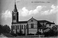 Primarette, l'église, 1911, p169 de L'Isère les 533 communes - cliché Blanchard.jpg