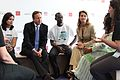 Prime Minister David Cameron and Melinda Gates talk about family planning issues and volunteering with young people at the London Summit on Family Planning (7555052848).jpg