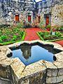 Primer jardín con fuente en la entrada del ex convento del desierto de los leones.jpg