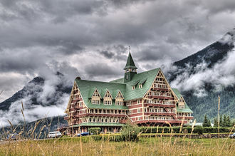 Canada's grand railway hotels - Prince of Wales Hotel in Waterton Lakes National Park.