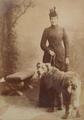 Princesa D. Amélia de Orleães com cão (1880s) - João Francisco Camacho.png