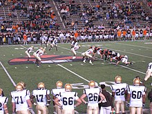 A picture showing a football match between Princeton University and Lehigh University in September 2007