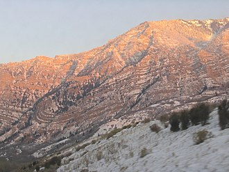 Syncline - Image: Provo Canyon syncline