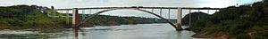 Friendship Bridge (Brazil–Paraguay) - Image: Puente de la Amistad (panoramica)