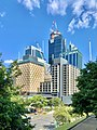 Pullman Brisbane King George Square with 300 George, State Law Building in the background seen from Wickham Park, 2020.jpg