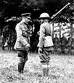 Pvt Harry Shelly receives British Distinguished Conduct Medal from King George V crop.jpg