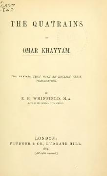 Quatrains of Omar Khayyam (tr. Whinfield, 1883).djvu