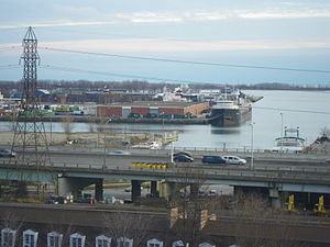 Quebecois and 2 other lake freighters moored for the Winter in Toronto, December 2011 -a.jpg