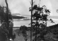Queensland State Archives 2068 Mouth of Currumbin Creek from Pacific Highway Currumbin Palm Beach and Burleigh Heads in distance c 1934.png