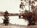 Queensland State Archives 2295 Boating party at Enoggera Reservoir Waterworks Road The Gap Brisbane City c 1897.png
