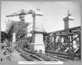 Queensland State Archives 3477 South approach hammerhead crane completing deck of steel span no 5 Brisbane 17 June 1937.png