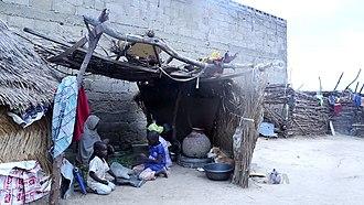 Boko Haram insurgency - Refugees of the conflict at Maiduguri