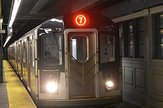 7 (New York City Subway service) - Image: R188 7 train entering Queensboro Plaza