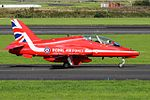 RAF Red Arrows at Prestwick Airport (29732876506).jpg