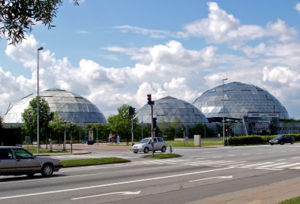 Randers Tropical Zoo - The three domes of the zoo